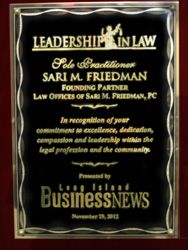 Leadership in Law - Sari M. Friedman - Business News